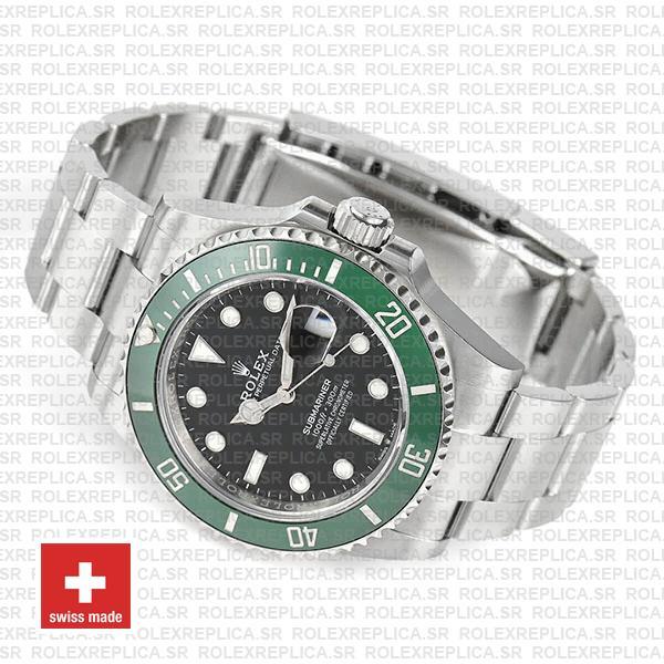 Rolex Submariner Green Ceramic Bezel Black Dial 41mm