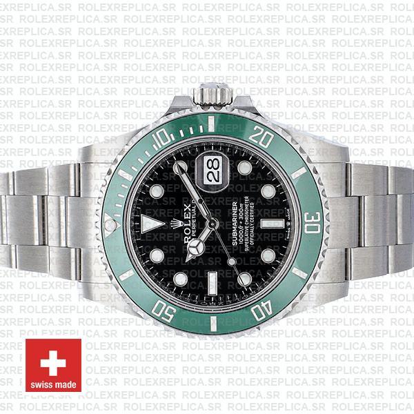 Rolex Submariner Green Ceramic Bezel Black Dial 41mm 904L Stainless Steel
