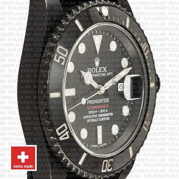 Rolex Submariner Pro Hunter Date DLC 904L Steel 40mm