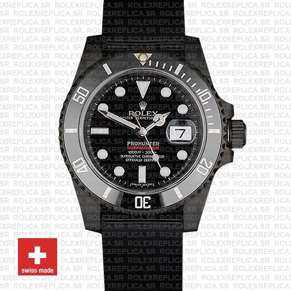 Rolex Submariner Pro Hunter NATO Date   Black Ceramic Bezel