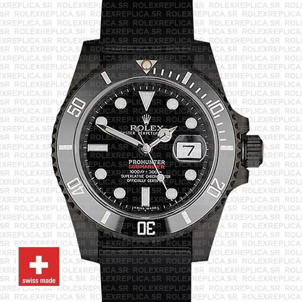 Rolex Submariner Pro Hunter NATO Date Black Ceramic