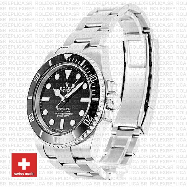 Rolex Submariner Ss Black No Date Ceramic 40mm 114060 Replica