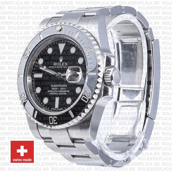 Rolex Oyster Perpetual Submariner Black Dial No Date Ceramic Bezel