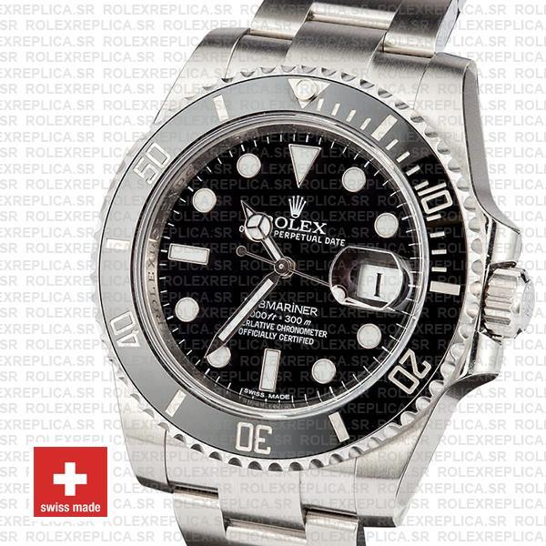 Rolex Oyster Perpetual Date Submariner Black Dial 40mm Ceramic Bezel 904L Steel Oyster Bracelet