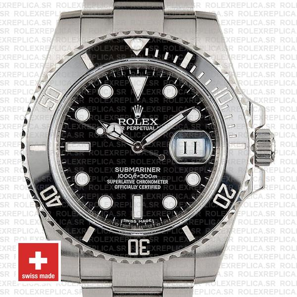 Rolex Submariner Black Dial Ceramic Bezel Rolex Replica Watch