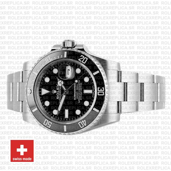 Rolex Submariner Black Dial Ceramic Bezel Watch