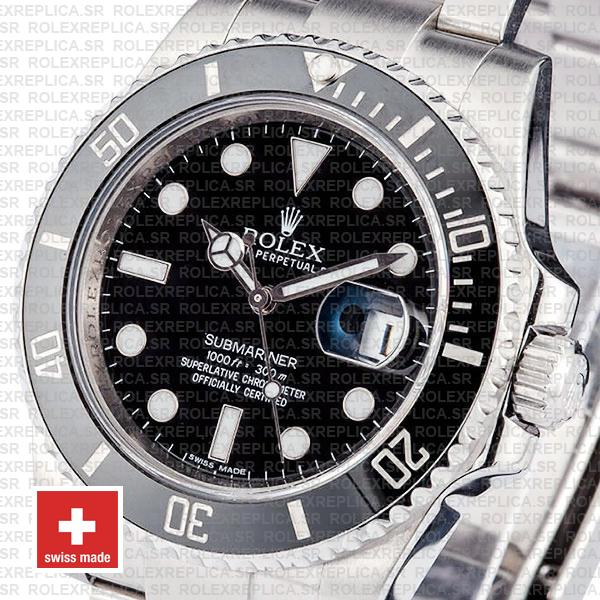 Rolex Submariner Black Dial Ceramic Bezel Replica