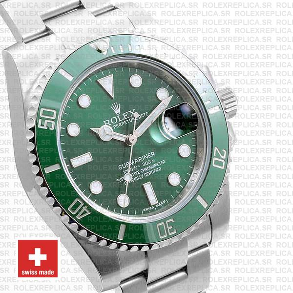 Rolex Submariner Steel Green Ceramic 40mm 116610