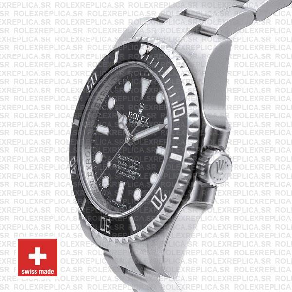 Rolex Submariner Steel No Date Black Ceramic 40mm 114060