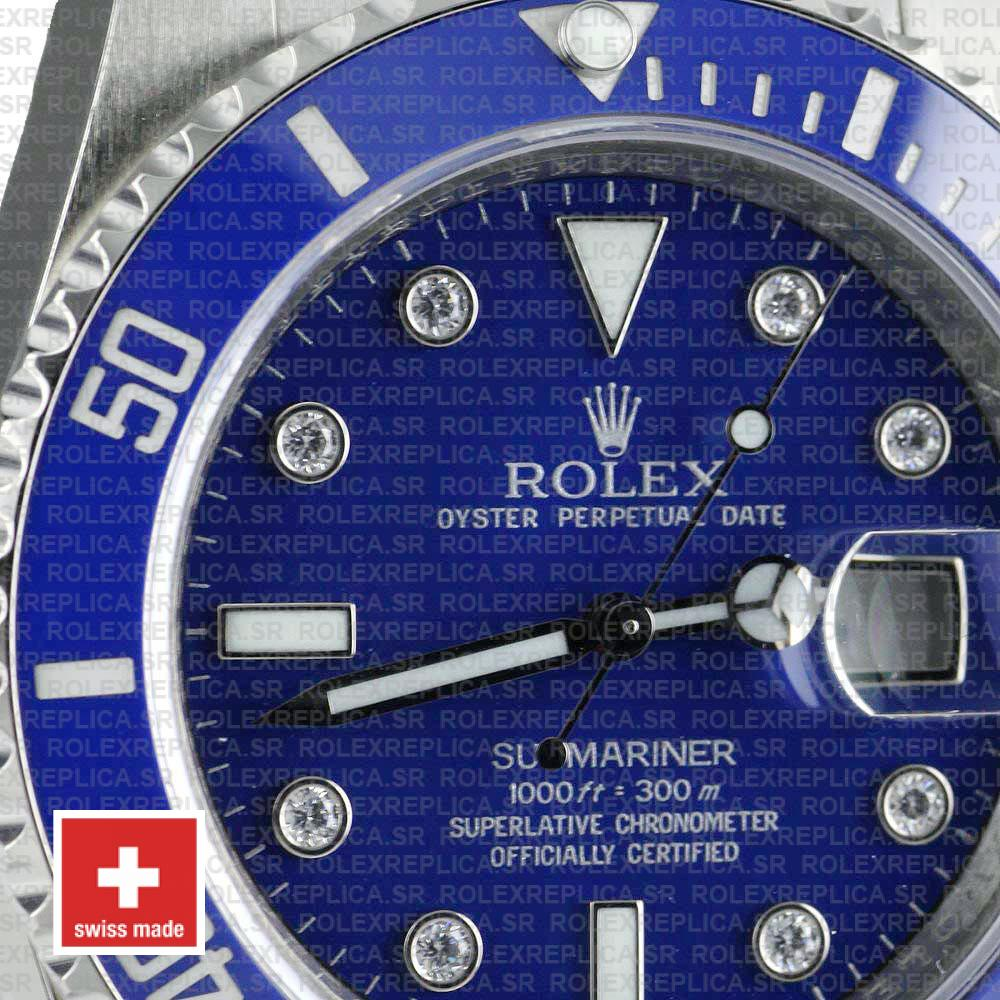Rolex Oyster Perpetual Submariner Stainless Steel Blue Dial with Ceramic Bezel