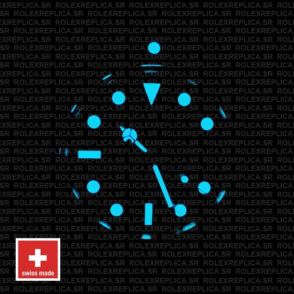 Swiss Replica Rolex Submariner Blue Lume