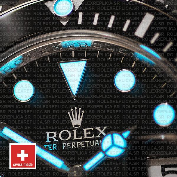 Swiss Replica Rolex Submariner Blue Lume