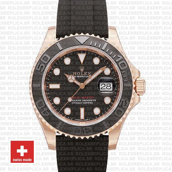 Rolex Yacht Master 116655 Everose Rubber Swiss Replica