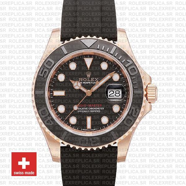 Rolex Yacht-Master Rose Gold Black Dial | Rolex Replica Watch