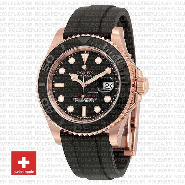 Rolex Yacht Master 116655 Everose Rubber Swiss Replica