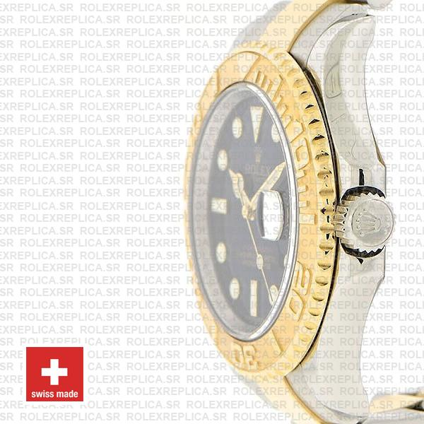 Rolex Yacht-Master 18k Yellow Gold Two-Tone, Stainless Steel in Blue Dial with Oyster Bracelet