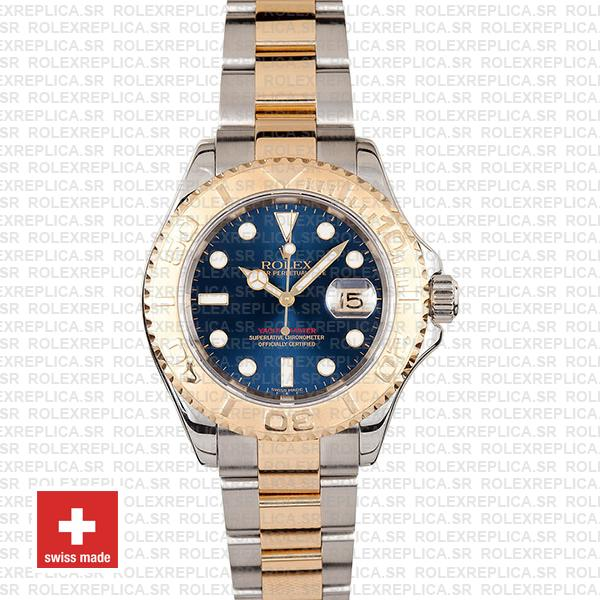 Rolex Yacht-Master Two-Tone Gold Blue Dial Swiss Replica Watch