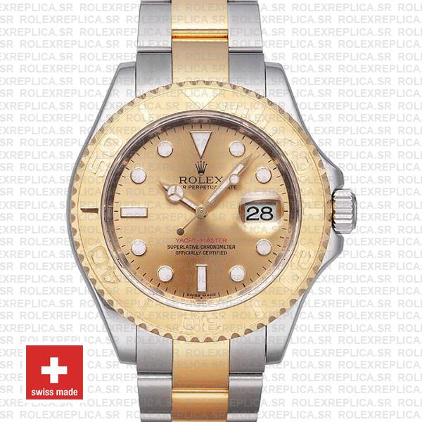 Rolex Yacht-Master Two-Tone 18k Yellow Gold Dial Watch
