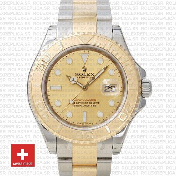 Rolex Yacht-Master Two-Tone 18k Yellow Gold Dial Swiss Replica Watch