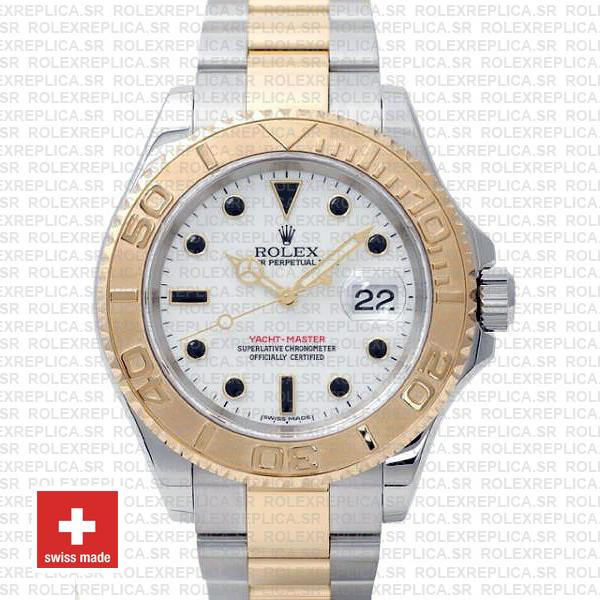 Rolex Yacht-Master Yellow Gold Two-Tone White Dial Watch