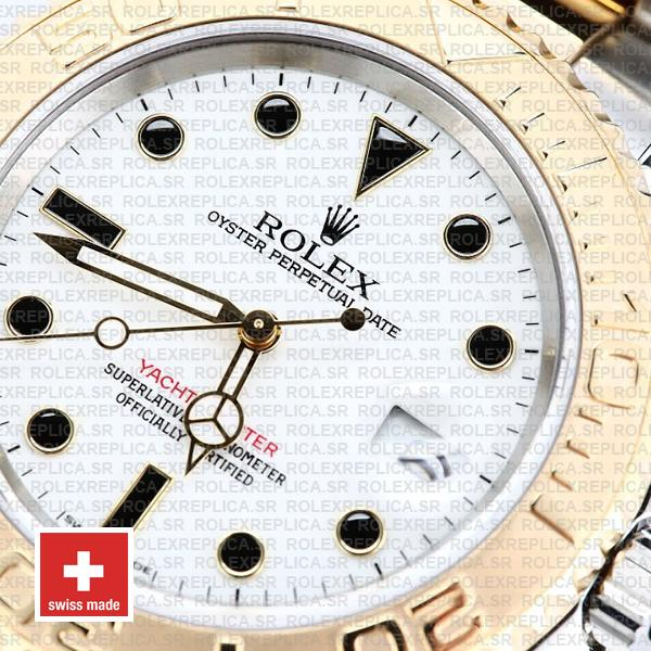 Rolex Oyster Perpetual Yacht-Master Two-Tone White Dial 40mm in Oystersteel & 18k Yellow Gold Bracelet Rolex Replica