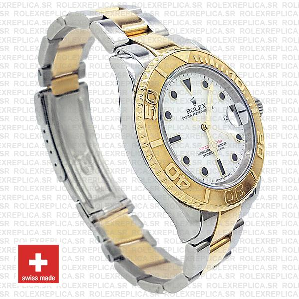 Rolex Yacht-Master Yellow Gold Two-Tone White Dial Replica Watch