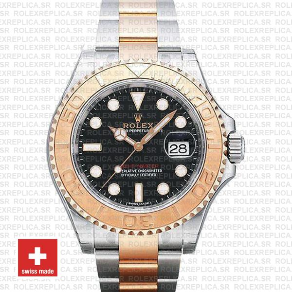 Rolex Yacht-Master Two-Tone Black Dial | Rose Gold Replica