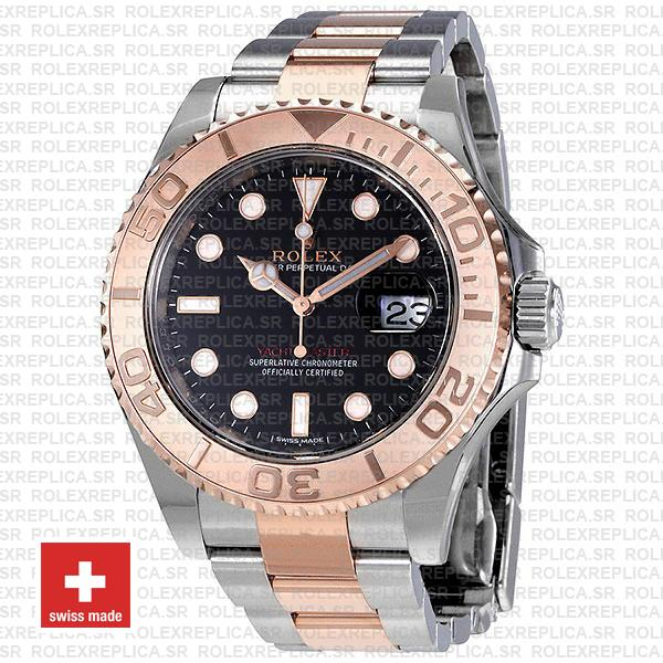 Rolex Yacht Master 2016 Rose Gold 2 Tone Black 40mm 116621