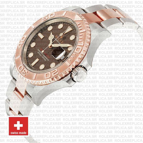 Rolex Yacht-Master Two-Tone Chocolate Dial Rolex Replica Watch