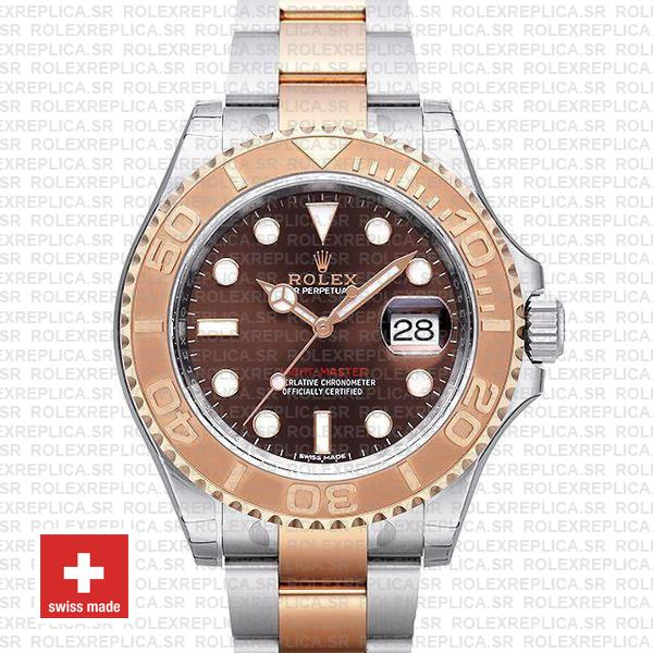 Rolex Yacht-Master Two-Tone Chocolate Dial | Replica Watch