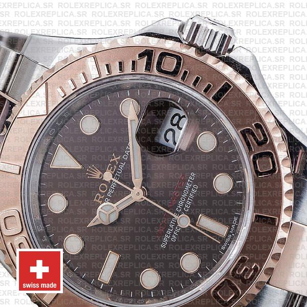 Rolex Yacht-Master 2016 18k Rose Gold Two-Tone, Chocolate Dial 40mm, 904L Steel Swiss Replica Watch