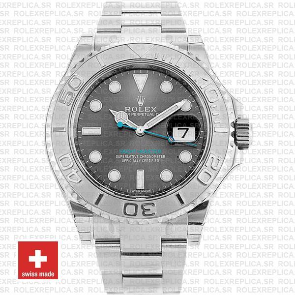 Rolex Yacht-Master 2016 Platinum Rhodium Dial Rolex Replica Watch