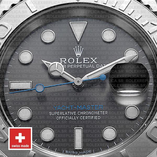 Rolex Yacht-Master 2016 Platinum Rolesium 904L Stainless Steel, Dark Rhodium Dial 40mm