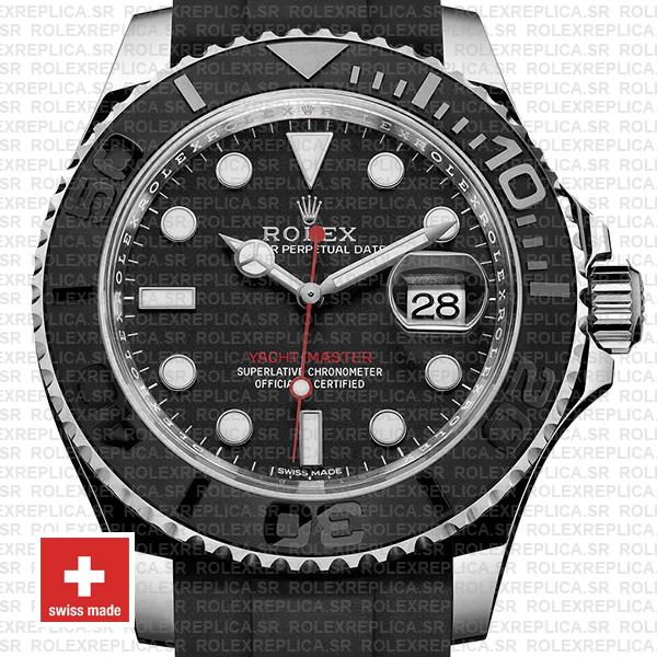 Rolex Yacht Master Ceramic Bezel Rubber Band 40mm 116622 Swiss Replica