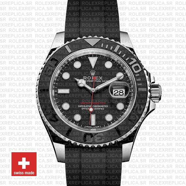 Rolex Yacht-Master Black Dial Stainless Steel | Rolex Replica