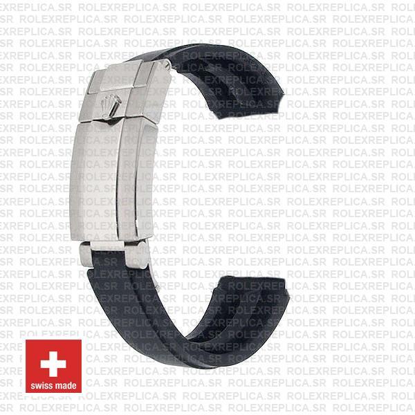 Rolex Yacht-Master 904L Steel Black Dial 40mm Ceramic Bezel Rubber Strap