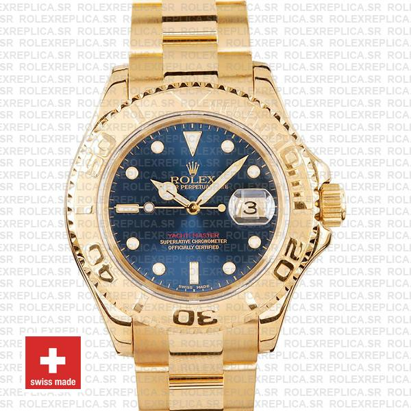 Rolex Yacht Master Gold Blue 40mm 16628