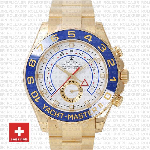 Rolex Yacht-Master II Yellow Gold White Dial | Replica Watch