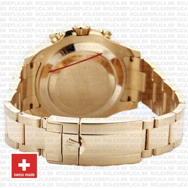 Rolex Yacht-Master II Stainless Steel 18k Yellow Gold White Dial 44mm Watch with Blue Ceramic Bezel