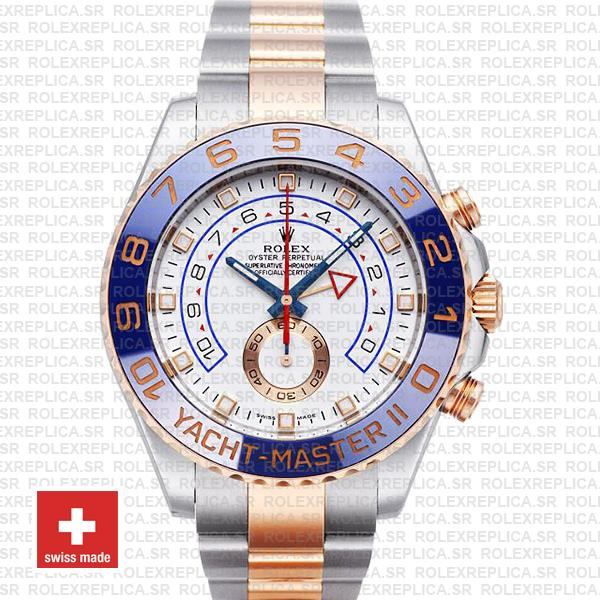 Rolex Yacht-Master II Gold Two-Tone White Dial Rolex Replica
