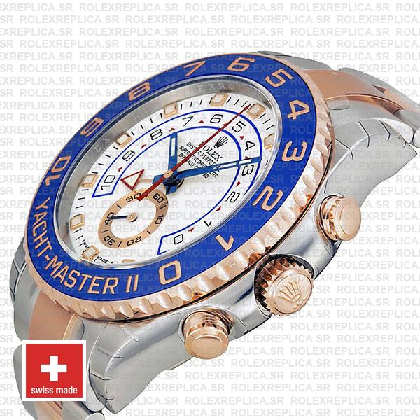 Rolex Yacht Master Ii 2 Tone White Dial 44mm 116681