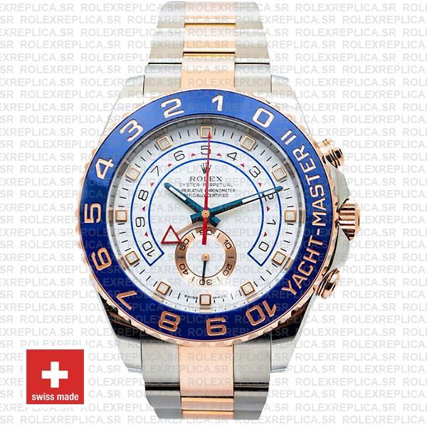 Rolex Yacht-Master II Gold Two-Tone White Dial Rolex Replica Watch