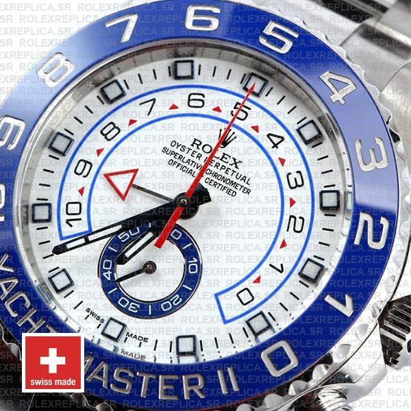 Rolex Yacht Master Ii Steel White Dial 44mm 116680