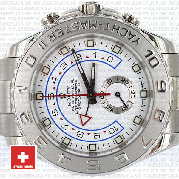 Rolex Yacht-Master II 18k White Gold Stainless Steel White Dial 44mm with Oyster Bracelet