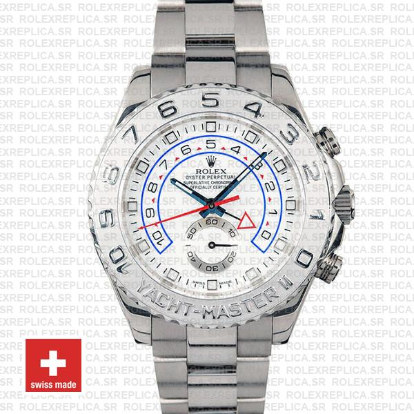 Rolex Yacht-Master II Platinum 44mm White Gold Replica Watch