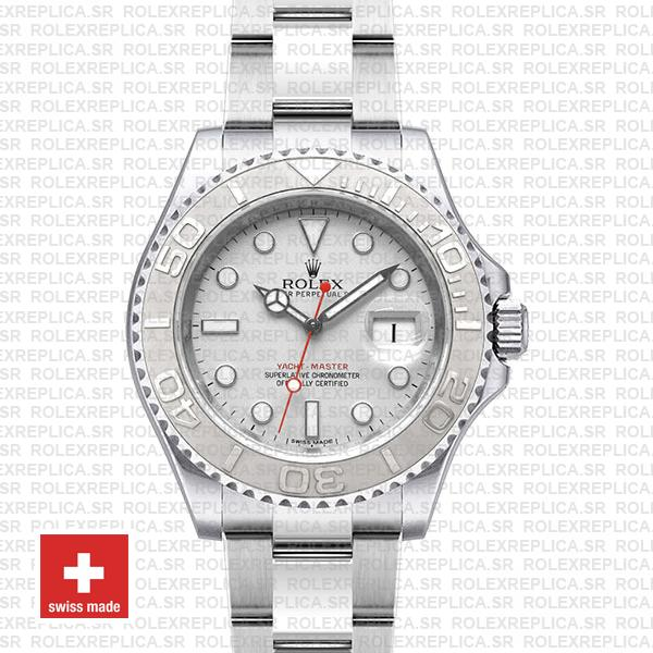 Rolex Yacht-Master II 904L Stainless Steel Platinum Silver Dial with 904L Steel Oyster Bracelet