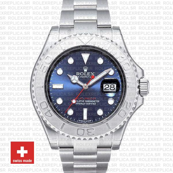 Rolex Yacht-Master Blue Dial Stainless Steel | Rolex Replica
