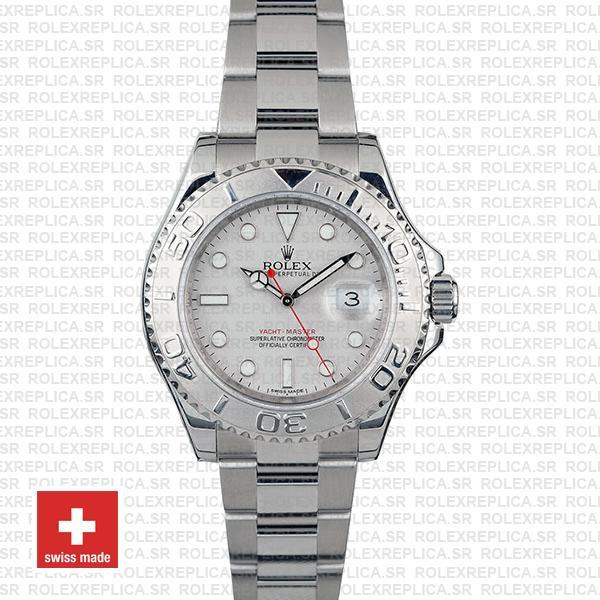 Rolex Yacht-Master II Silver Dial 40mm Platinum Replica Watch