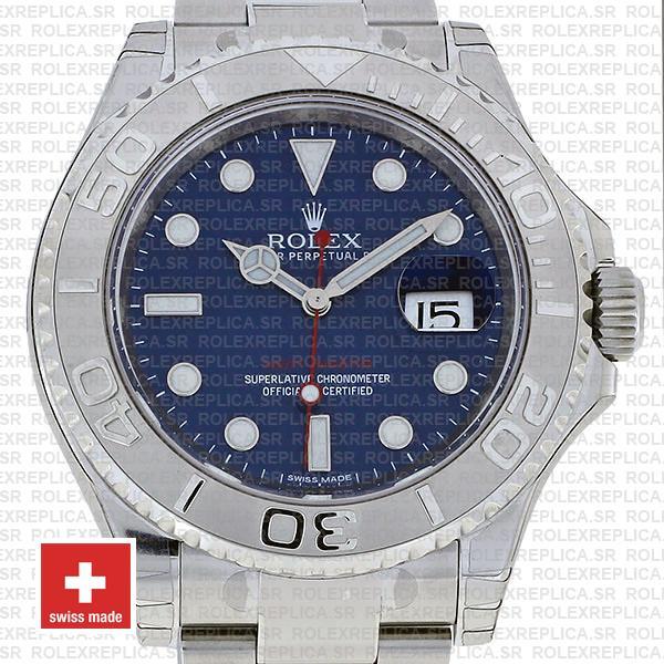 Rolex Yacht-Master Blue Dial Stainless Steel Rolex Replica Watch